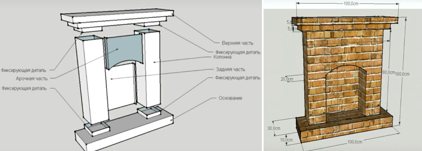 Инструкция как сделать камин своими руками из картона