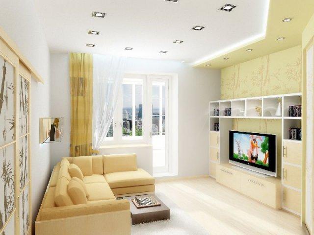 Cовременный дизайн маленькой комнаты