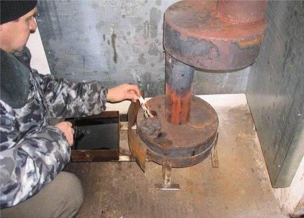 Как сделать печь на отработке своими руками