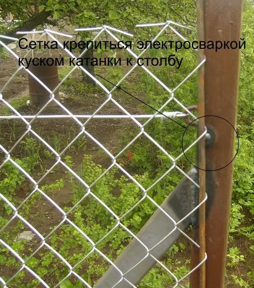 Как правильно натянуть сетку-рабицу на забор